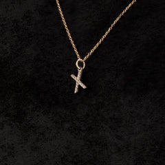 Single Letter Charm Necklace — X