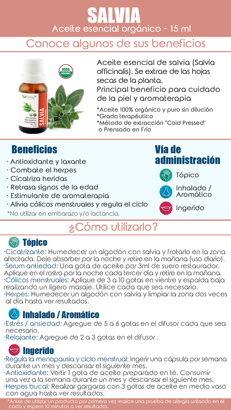 Salvia Orgánica 15ml