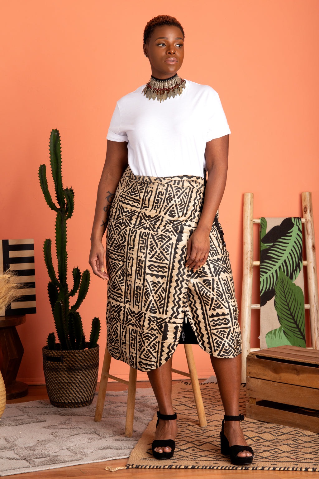 Vintage Central Alignment Wrap Skirt