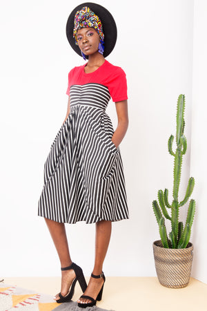 Draped Front Skirt- FINAL SALE
