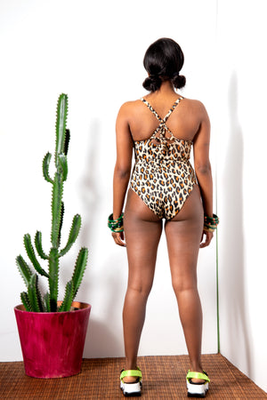 Leopard Print Sweetheart Swimsuit