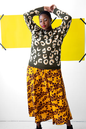 Leopard Print Sweater- FINAL SALE