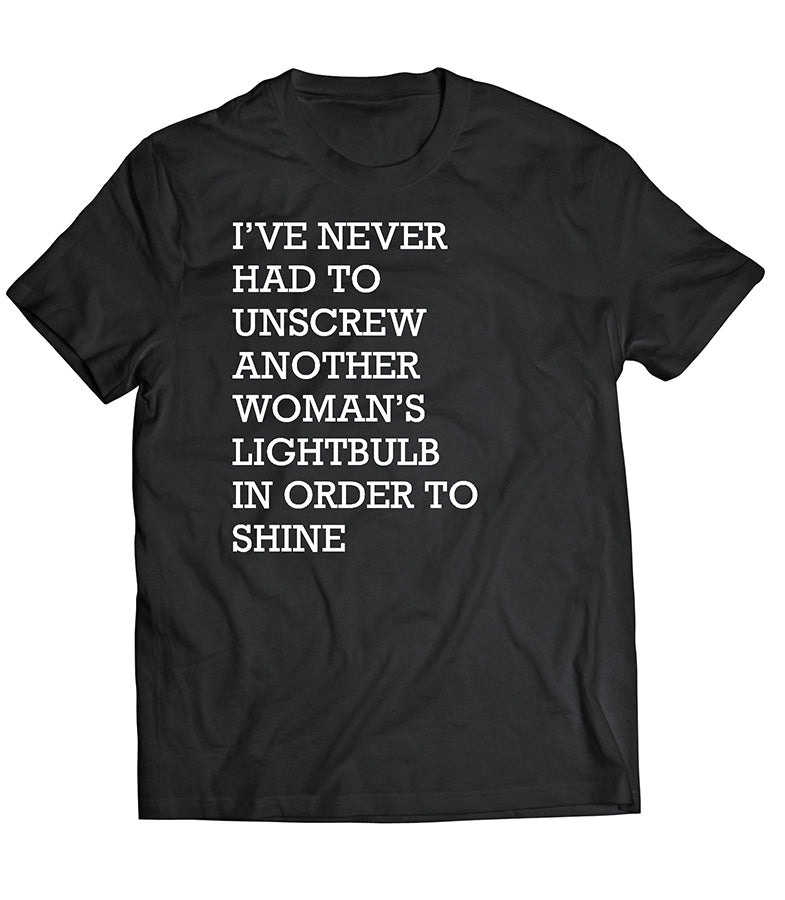 Another Woman's Lightbulb Tee by Thought Provoking