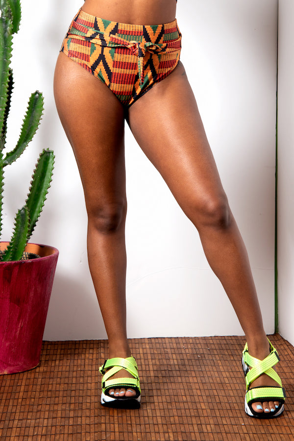 Kente Tie Waist Bottom