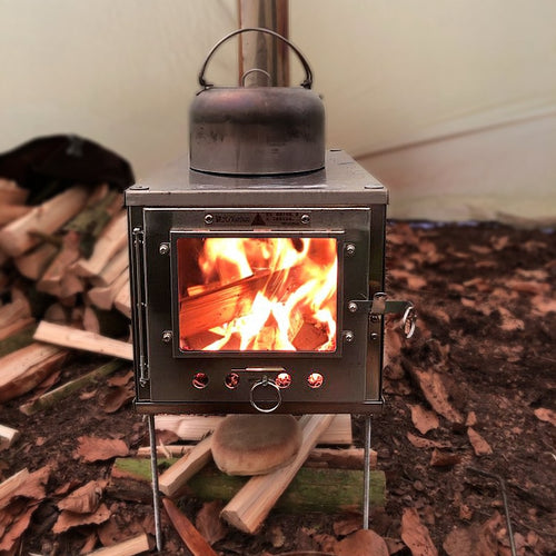 Thous Winds Bushcraft Outdoor ultralight titanium alloy wood stove detachable stove multipurpose camping tent heating