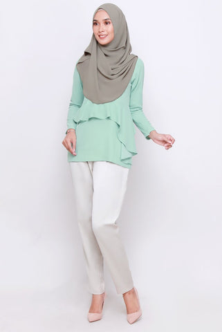 Daria Blouse - Dusty Green