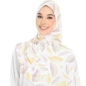 Julia Semi Instant Ironless Shawl - Shiny Leaves