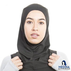 Sports Hijab (Black) by Medina Activewear
