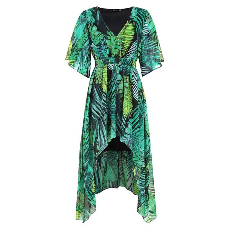 HiLo Palm Maxi Dress