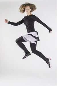Love Mesh Skirted Pants by Mu'mine Activewear