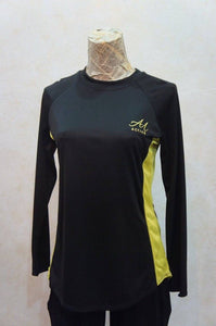 Stefan Raglan Top By Anah Maria Active (Black Yellow)