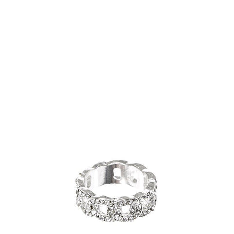 Rhinestones Chain Ring