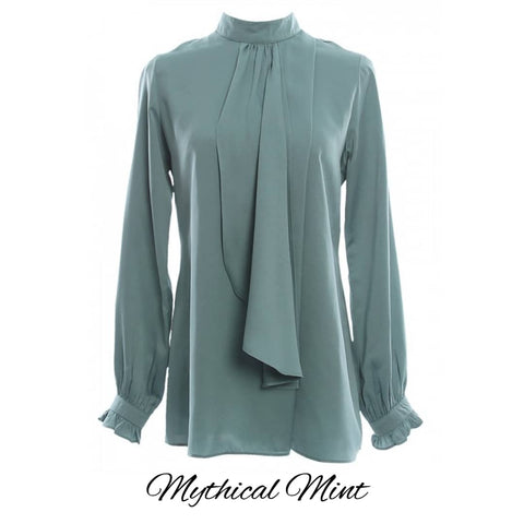Anthea Blouse - Mythical Mint