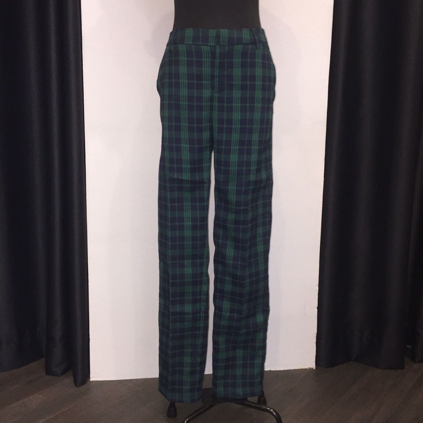 Plaid Basic Pants