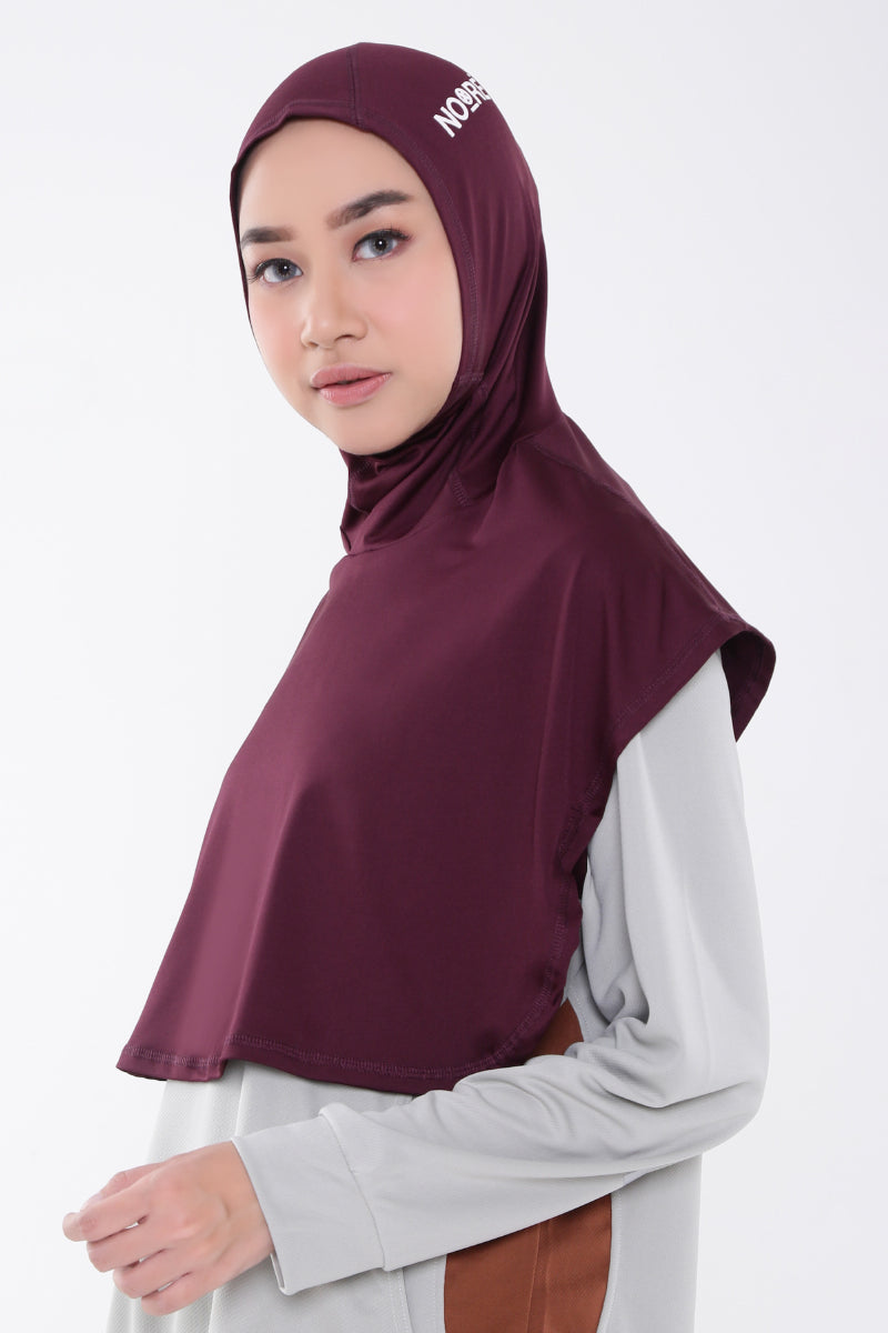 Sarai Sports Hijab - Dark Purple