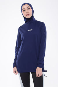 Aubergine Top - Navy