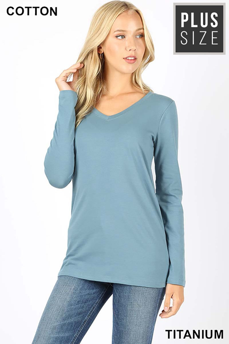 Blue Long Sleeve- Plus