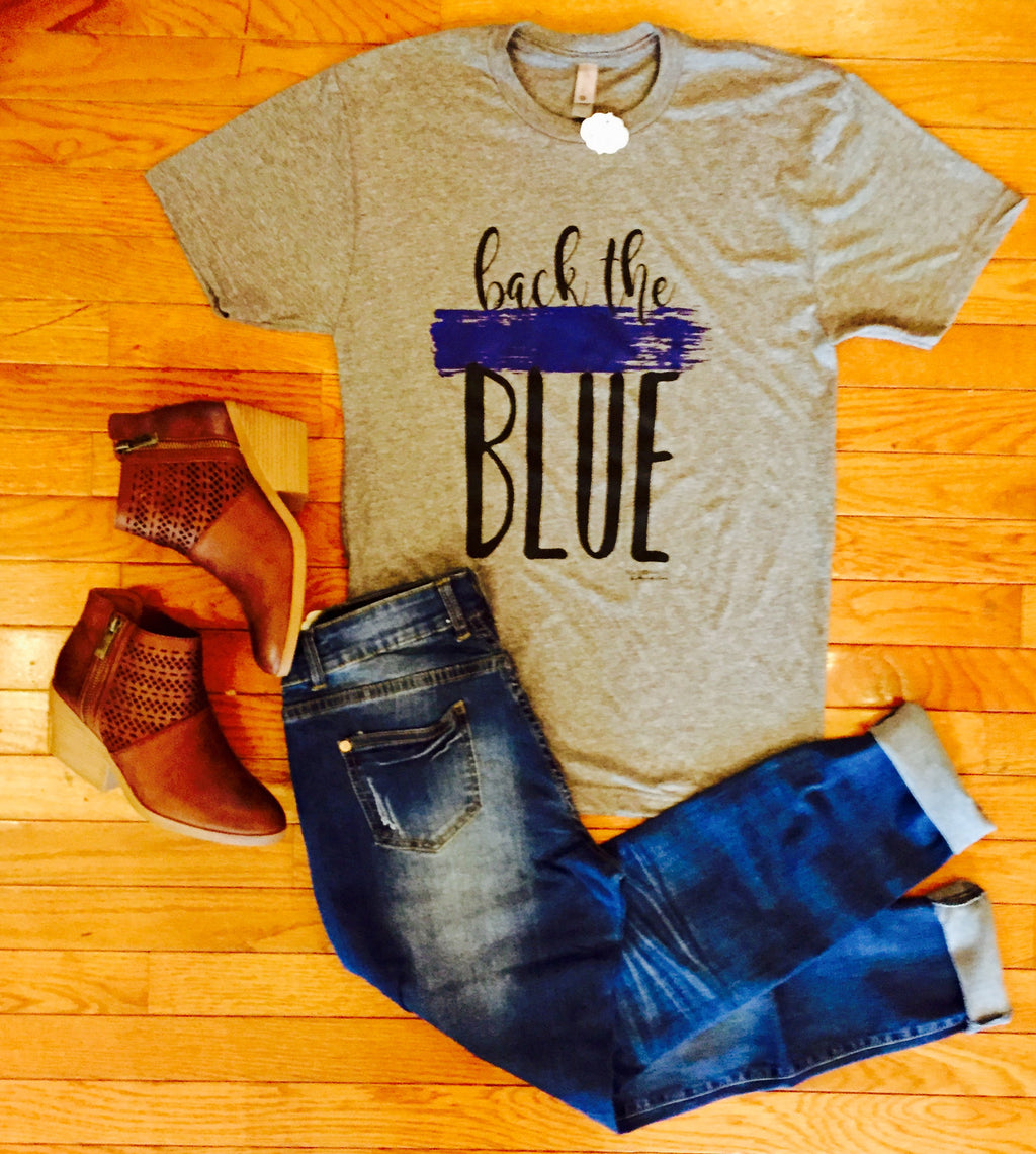 Back The Blue Tee Shirt