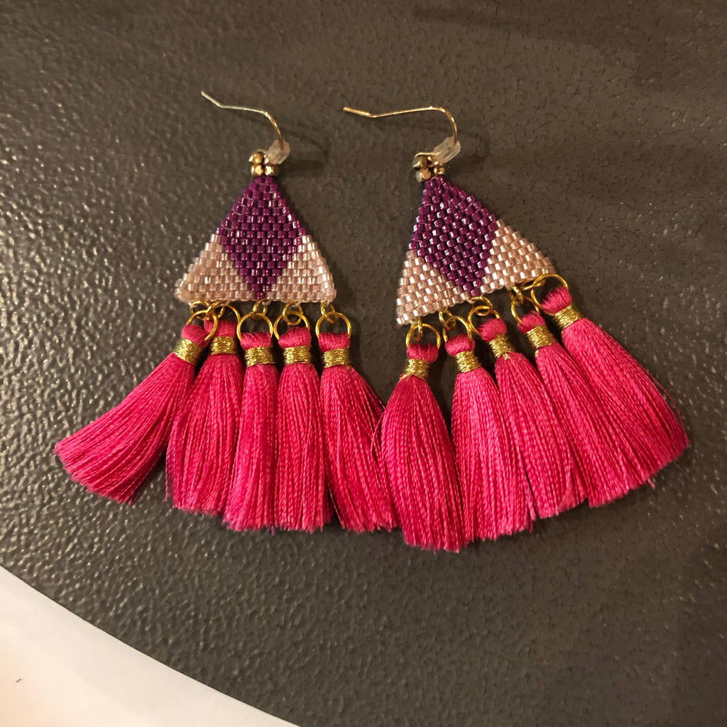 Pink Purple Earrings