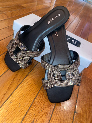 Sparkle Black Sandal