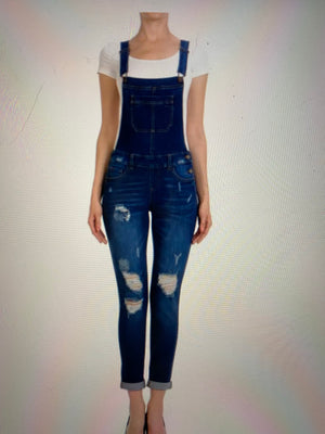 Distressed Wax Overalls