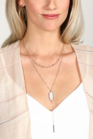 Layered Disk and Shell Necklace