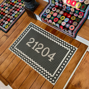 Custom Mosaic Tile Floor Mat