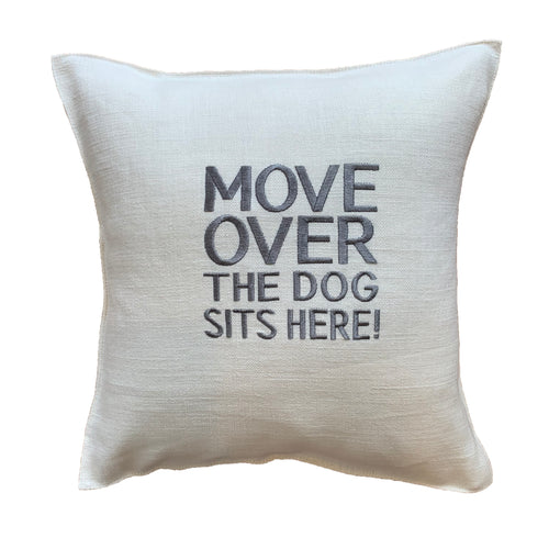 "Linen ""DOG"" Pillow"