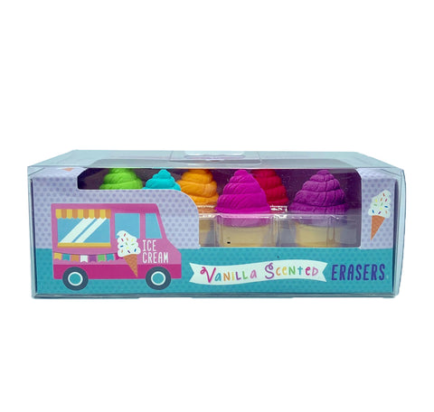 Ice Cream Shoppe Scented Erasers