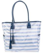 Striped Vinyl Tote