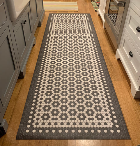 Mosaic Tile Vinyl Floorcloth