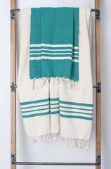 Turkish Towel Color Stripe/Ecru