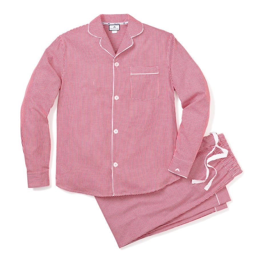Women's Mini Red Gingham Pajama Set