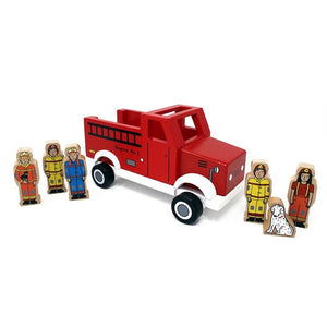 Wooden Magnetic Fire Truck