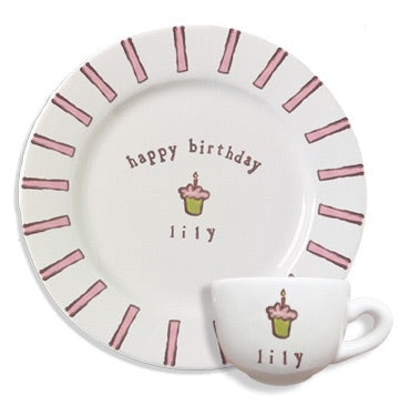 Birthday Plate and Cup Set