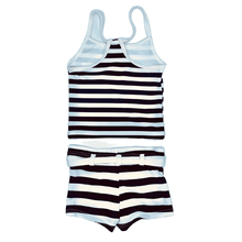 Load image into Gallery viewer, Navy/white Stripe Tankini
