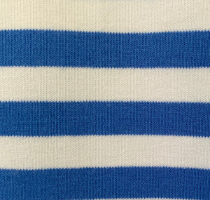 Anna Dress Stripes French Blue