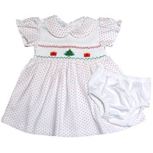 Pima Smocked Christmas Dress