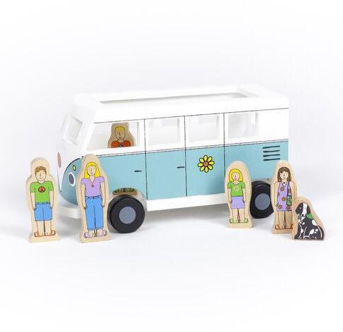 Wooden Magnetic Love Bus