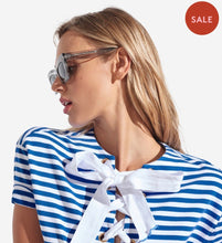 Load image into Gallery viewer, Anna Dress Stripes French Blue