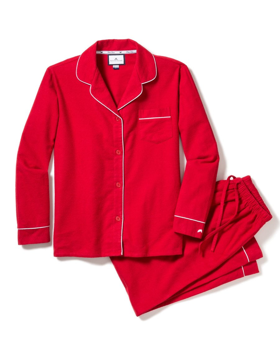 Men's Red Flannel Classic Pajama Set