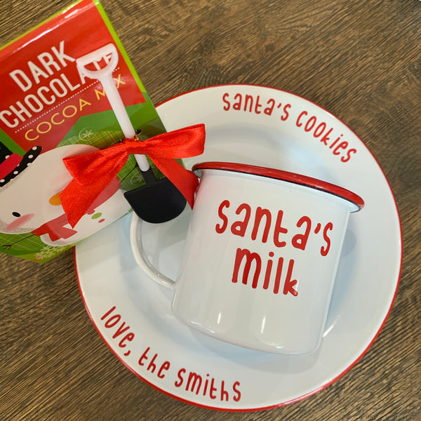 Santa's Cookie Plate and and Mug Set