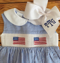 Load image into Gallery viewer, Smocked Flag Dress