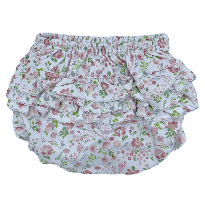 Ruffled Diaper Cover-Garden Floral