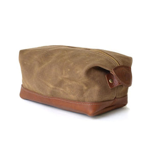 Wax Canvas and Leather Dopp