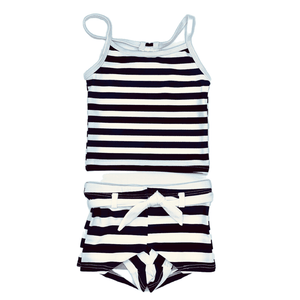 Navy/white Stripe Tankini