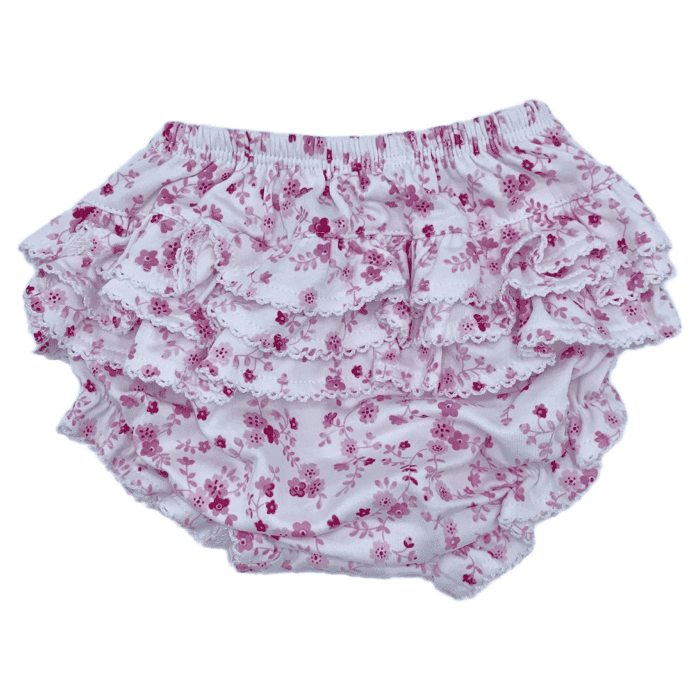 Ruffled Diaper Cover-Pink Floral