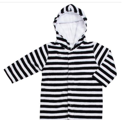 Terry Onesie Navy Stripe