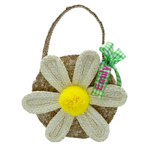 Daisy Straw Purse