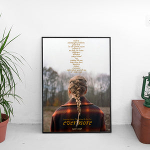 Taylor Swift - Evermore Tracklist Poster